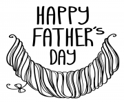 Printable happy fathers day hipster beard coloring pages