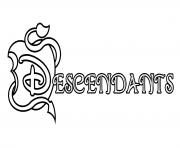 Descendants Coloring Pages Free