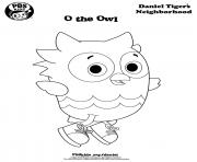 Printable O the Owl Daniel Tiger coloring pages