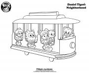 all in the train Daniel Tiger