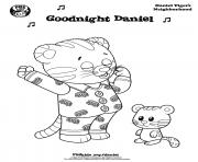 Printable Good night Daniel Tiger min coloring pages