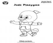 Printable Jodi Platypus Daniel Tiger min coloring pages