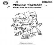 Printable Playing Together Daniel Tiger min coloring pages