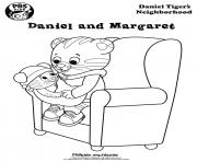 Printable Daniel Tiger baby chair min coloring pages