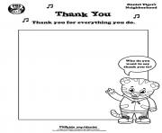Printable Thank You Daniel Tiger min coloring pages