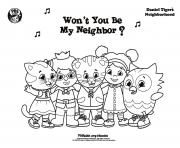 Printable Be My Neighbor Daniel Tiger min coloring pages