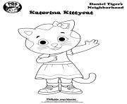 Katerina Kittycat Daniel Tiger min coloring pages