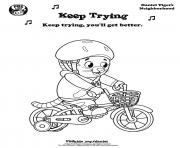Printable Keep Trying Daniel Tiger min coloring pages