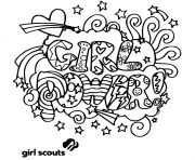 girl power girls scouts coloring pages