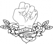 girls power resist coloring pages