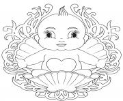Printable baby mandala coloring pages