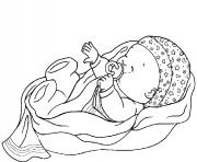 Printable Sleeping Baby coloring pages