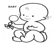 Printable baby bae cute coloring pages