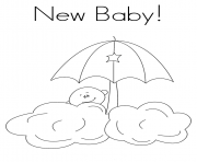 Printable New Baby coloring pages