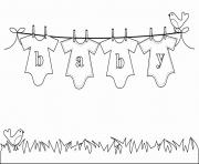 Printable Baby Laundry coloring pages