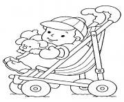 Printable Baby in Stroller coloring pages
