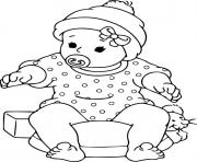 Printable enchanting baby coloring pages