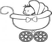 Printable Baby Stroller coloring pages