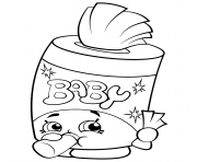 Printable baby swipes shopkin coloring pages