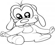 Printable disney baby cartoon coloring pages