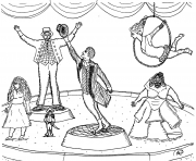 Printable robins great the greatest showman circus coloring pages