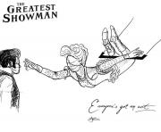 Printable the greatest showman line art coloring pages