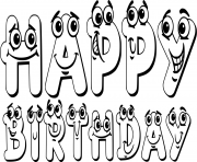 illustration happy birthday sign