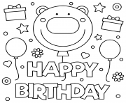 happy birthday smile kids illustration