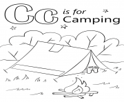 letter c is for camping