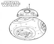 Printable BB 8 star wars 7 coloring pages