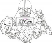 Printable angry birds star wars 8 coloring pages