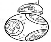 Printable bb8 de starwars coloring pages