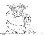 Printable star wars yoda coloring pages