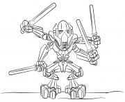 Printable lego general grievous coloring pages