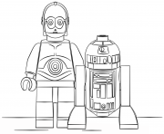 Printable lego r2d2 and c3po coloring pages