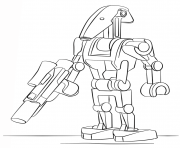 Printable lego battle droid coloring pages