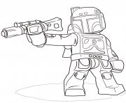 Printable lego star wars boba fett coloring pages