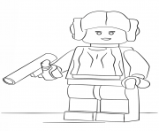Printable lego princess leia coloring pages