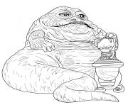 Printable jabba the hutt Star Wars Episode VI Return of the Jedi coloring pages
