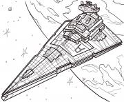 Printable star destroyer Star Wars Episode VI Return of the Jedi coloring pages
