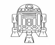 Printable astromech droid r2d2 Star Wars Episode VI Return of the Jedi coloring pages