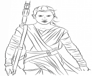 Printable rey from the force awakens Star Wars Episode VII The Force Awakens coloring pages