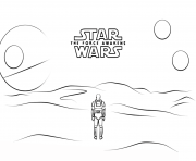 Printable 7 poster with stormtrooper finn Star Wars Episode VII The Force Awakens coloring pages