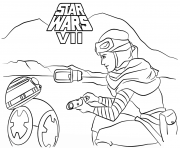 rey and bb 8 Star Wars Episode VII The Force Awakens
