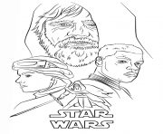 Printable the force awakens poster Star Wars Episode VII The Force Awakens coloring pages