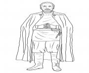 Printable count dooku Star Wars Episode II Attack of the Clones coloring pages