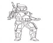 Printable jango fett Star Wars Episode II Attack of the Clones coloring pages