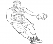 Printable klay thompson raptors toronto nba coloring pages