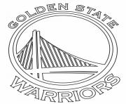 Printable nba teams logo golden state warriors coloring pages
