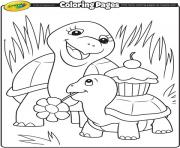 Crayola animal turtle mommy